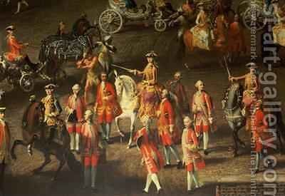 A Cavalcade in the Winter Riding School of the Vienna Hof to celebrate the defeat of the French army at Prague 1743 2 by Martin II Mytens or Meytens - Reproduction Oil Painting