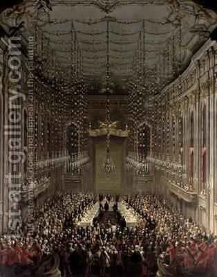 Banquet in the Redoutensaal Vienna 1760 2 by Martin II Mytens or Meytens - Reproduction Oil Painting