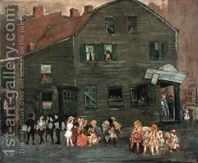The Old House 1910 by Jerome Myers - Reproduction Oil Painting