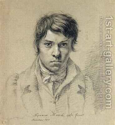 Self Portrait 1811 by Johann Nepomuk Muxel - Reproduction Oil Painting