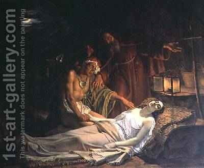 The Death of Atala by Cesare Mussini - Reproduction Oil Painting