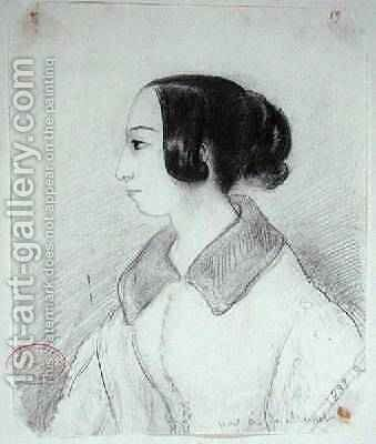 George Sand 1804-76 in profile 1833 by Alfred de Musset - Reproduction Oil Painting