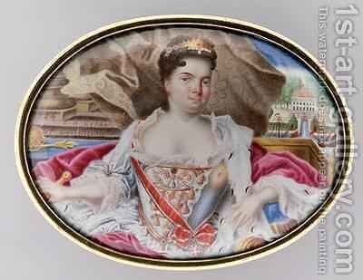 Portrait of Catherine I 1684-1727 1724 by Grigory Semyonovich Musikiysky - Reproduction Oil Painting