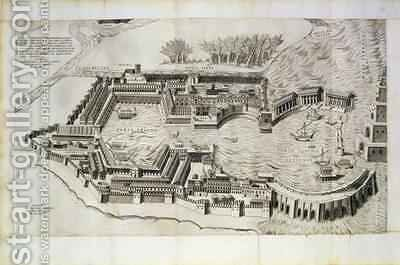 Plan of the port of Ostia Antica by Giulio de Musi - Reproduction Oil Painting