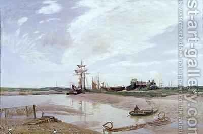 Awaiting the Tide The Rother at Rye by David Murray - Reproduction Oil Painting