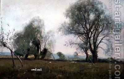 Down in the watermeadows 1893 by David Murray - Reproduction Oil Painting