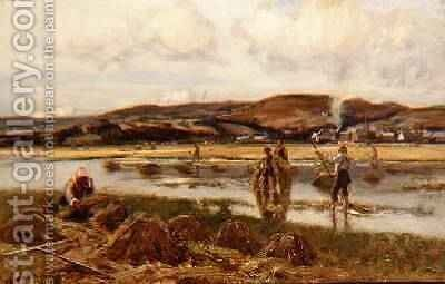 The Reed Gatherers by David Murray - Reproduction Oil Painting