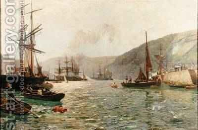 In Dartmouth Harbour 1887-1909 by David Murray - Reproduction Oil Painting