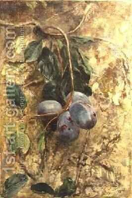 Plums by David Murray - Reproduction Oil Painting