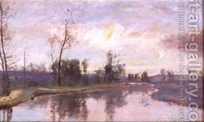 River Landscape 1888 by David Murray - Reproduction Oil Painting