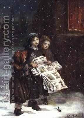 Carols for Sale by Augustus Edward Mulready - Reproduction Oil Painting