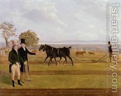 Sir Charles Morgan at the Castleton Ploughing Match 1845 by James Flewitt Mullock - Reproduction Oil Painting