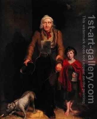 The Blind Beggar by James Flewitt Mullock - Reproduction Oil Painting