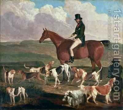 Tom Llewelyn Brewer on his Horse The Doctor 1845 by James Flewitt Mullock - Reproduction Oil Painting