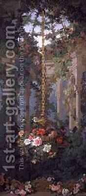 The Garden of Armida wallpaper design 1854 by Eduard Muller - Reproduction Oil Painting