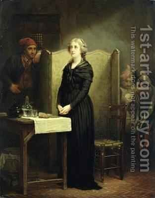 Queen Marie Antoinette in the Conciergerie The Prayer Table 1856-57 by Charles Louis Lucien Muller - Reproduction Oil Painting