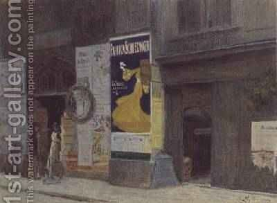 A Street in Vienna by Carl Muller - Reproduction Oil Painting
