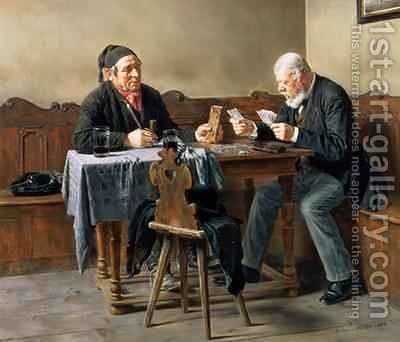 Pay Day 1887 by Anton Muller - Reproduction Oil Painting