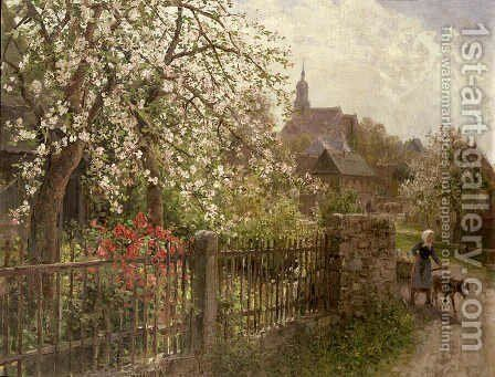 Apple Blossom by Alfred Muhlig - Reproduction Oil Painting