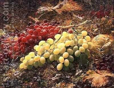 Grapes by William Muckley - Reproduction Oil Painting