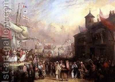 Quay Fair 1850 by J.G. Moyle - Reproduction Oil Painting