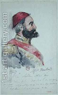 Sultan Abd al-Aziz 1830-76 1867 by Alfred Mouillard - Reproduction Oil Painting