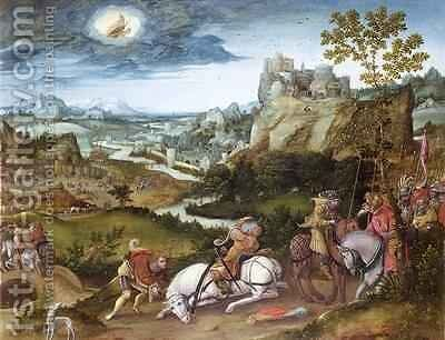 The Conversion of St Paul by Jan Mostaert - Reproduction Oil Painting