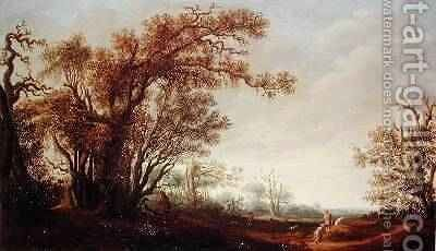 Figures in a Landscape by Jacob van Mosscher - Reproduction Oil Painting