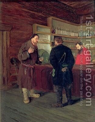 A Tavern 1889 by Timophej Mosgov - Reproduction Oil Painting