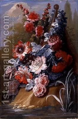 Still Life of Flowers by Mary Moser - Reproduction Oil Painting