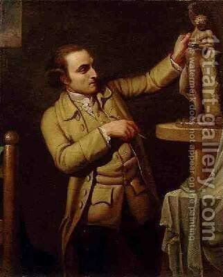 Joseph Nollekens 1737-1823 1770-71 by Mary Moser - Reproduction Oil Painting