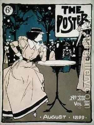 Front cover of The Poster volIII no13 August 1899 by Albert Morrow - Reproduction Oil Painting