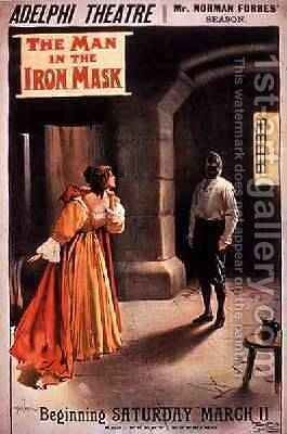 Poster The Man in the Iron Mask at The Adelphi Theatre London by Albert Morrow - Reproduction Oil Painting