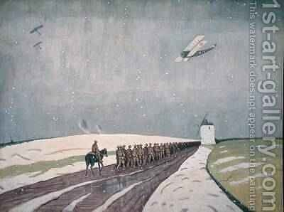 Canadians in the Snow 1918 by James Wilson Morrice - Reproduction Oil Painting