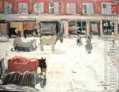 Snow Scene by James Wilson Morrice - Reproduction Oil Painting