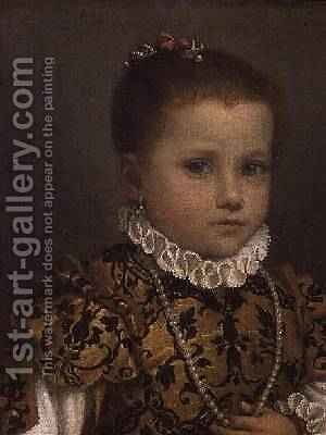 Portrait of a Young Girl by Giovanni Battista Moroni - Reproduction Oil Painting