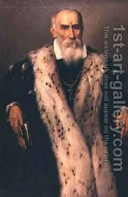 Portrait of a man possibly Gian Gerolamo Albani by Giovanni Battista Moroni - Reproduction Oil Painting