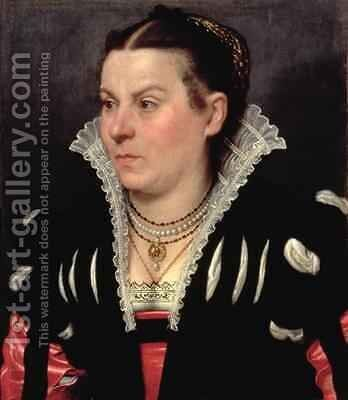 Portrait of a Lady by Giovanni Battista Moroni - Reproduction Oil Painting
