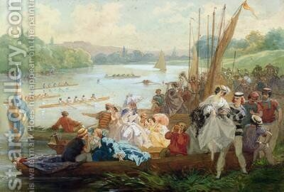 A Regatta at Asnieres during the Second Empire by Antony Paul Emile Morlon - Reproduction Oil Painting