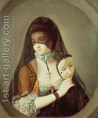 The Fair Nun Unmasked 2 by Henry Robert Morland - Reproduction Oil Painting