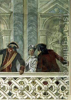 Group of three notaries by Michelangelo Morlaiter - Reproduction Oil Painting