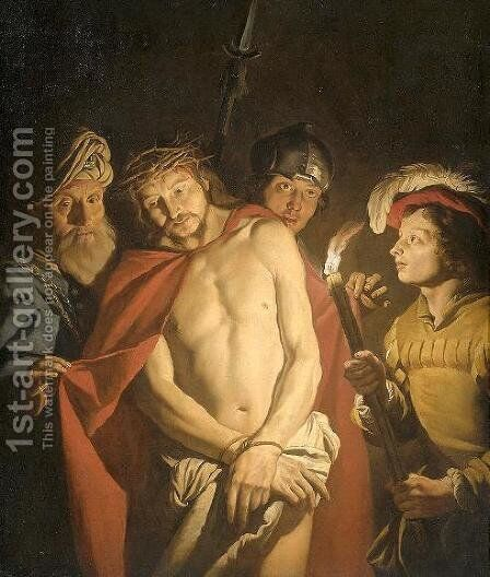 Ecce Homo 1630-1650 by Matthias Stomer - Reproduction Oil Painting