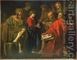 Christ Among the Doctors 1630 by Matthias Stomer - Reproduction Oil Painting