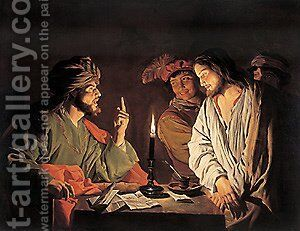 Christ Before the High Priest 1633ca by Matthias Stomer - Reproduction Oil Painting