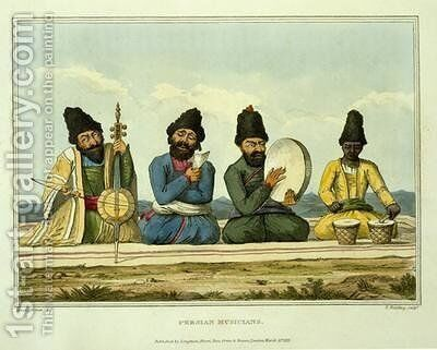 Persian Musicians from Journey through Persia Armenia, and Asia Minor to Constantinople in the Years 1808 and 1809 by (after) Morier, James Justinian - Reproduction Oil Painting
