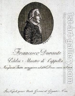 Francesco Durante 1686-1756 by Giovanni Morghen - Reproduction Oil Painting