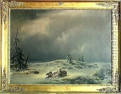 Napoleon at Berezina by Antonio (Il Tenente) Morghen - Reproduction Oil Painting