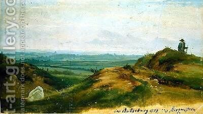 At Ratzeburg 1827 by Christian Morgenstern - Reproduction Oil Painting