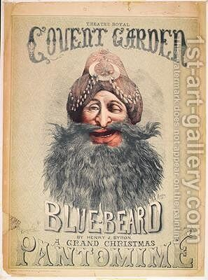 "Poster for a Christmas pantomime of Blue Beard by Matthew ""Matt"" Somerville Morgan - Reproduction Oil Painting"