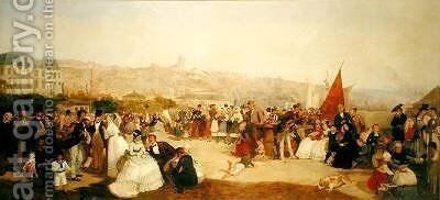 """A Day at Boulogne 1870 by Matthew """"Matt"""" Somerville Morgan - Reproduction Oil Painting"""